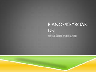 Pianos/keyboards