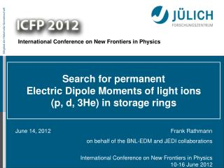Search for permanent  Electric  Dipole Moments of light ions  ( p, d, 3He) in storage rings