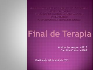 Final de Terapia