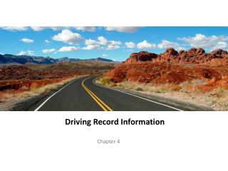 Driving Record Information