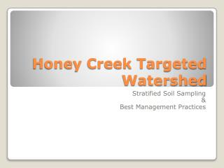 Honey Creek Targeted Watershed