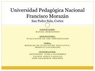 Universidad Pedagógica Nacional Francisco Morazán San Pedro Sula, Cortes
