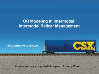 OR Modeling in Intermodal:  Intermodal Railcar Management