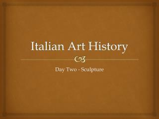 Italian Art History