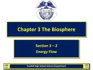 Chapter 3 The Biosphere