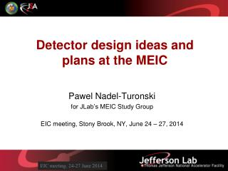 Detector design ideas and plans at the MEIC