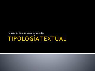 TIPOLOG�A TEXTUAL