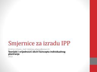 Smjernice za izradu IPP