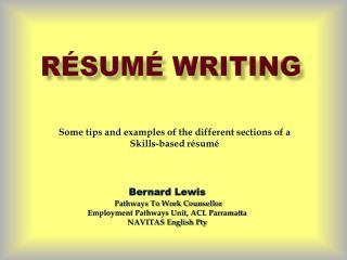 Résumé Writing
