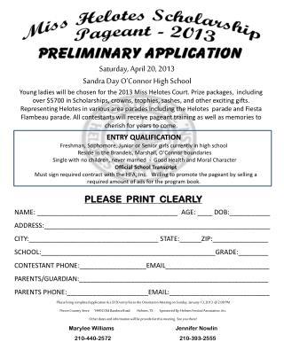 Saturday, April 20,  2013 Sandra Day O'Connor High School