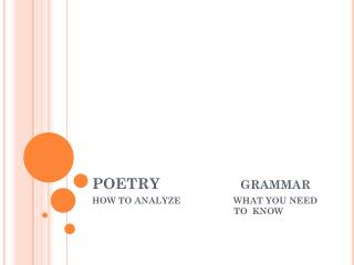 POETRY                   grammar