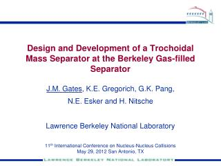 Design and Development of a Trochoidal Mass Separator at the Berkeley Gas-filled Separator