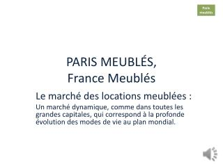 PARIS MEUBL�S, France  Meubl�s