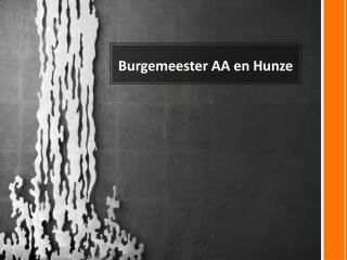 Burgemeester AA en Hunze