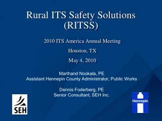 Rural ITS Safety Solutions (RITSS)