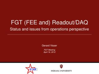 FGT (FEE and) Readout/DAQ