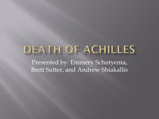 Death OF Achilles
