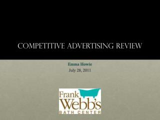 Competitive Advertising Review