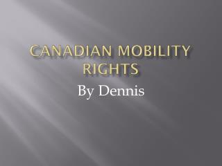 Canadian mobility rights