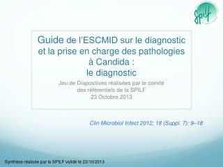 Jeu de Diapositives réalisées par le comité  des référentiels de la SPILF 23 Octobre 2013