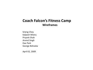Coach Falcon's Fitness Camp Wireframes Srieng Chey