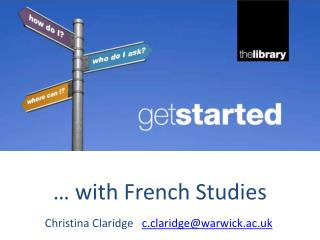 … with French Studies