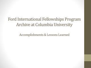 Columbia's tasks …