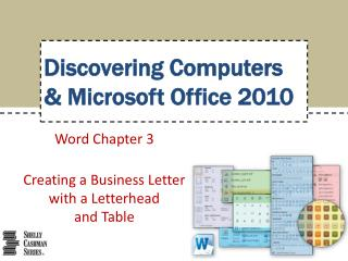 Word Chapter  3 Creating a Business Letter with a Letterhead  and Table