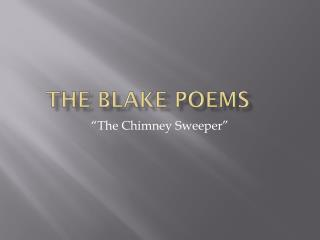 The Blake poems