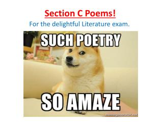 Section C Poems!