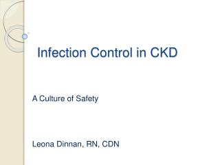 Infection Control in CKD