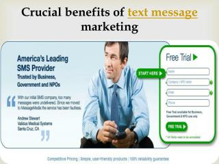 Crucial benefits of text message marketing
