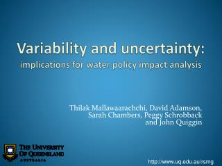Variability and uncertainty:  implications for water policy impact analysis
