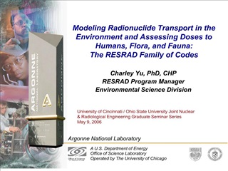 Modeling Radionuclide Transport in the Environment and Assessing ...