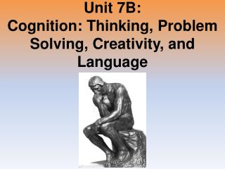 Unit 7B: Cognition: Thinking, Problem Solving, Creativity, and Language
