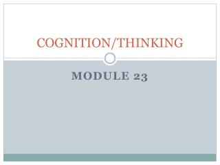 COGNITION/THINKING