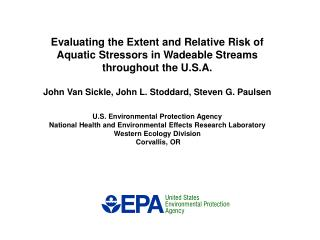 Evaluating the Extent and Relative Risk of Aquatic Stressors in ...