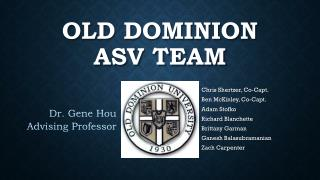 Old Dominion ASV team