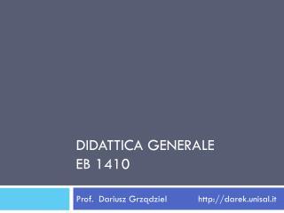 Didattica generale Eb  1410