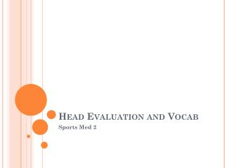 Head Evaluation and  Vocab