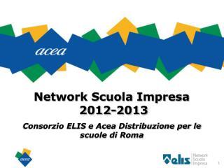 Network Scuola Impresa  2012-2013