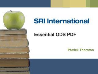 Essential ODS PDF