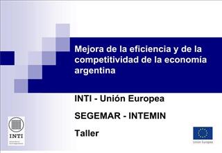 Mejora de la eficiencia y de la competitividad de la econom