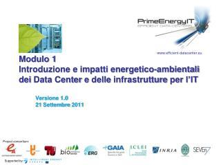 Versione  1.0 21  Settembre  2011