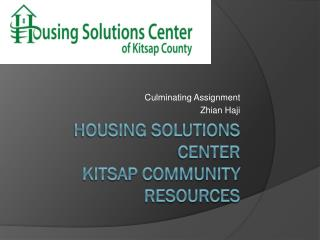Housing Solutions Center Kitsap Community Resources