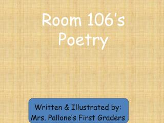 Room 106�s Poetry