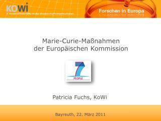 Marie-Curie-Maßnahmen  der Europäischen Kommission