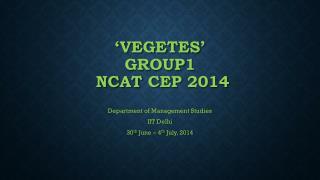 �VEGETES� GROUP1  NCAT  CEP 2014