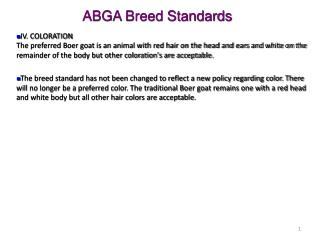 ABGA Breed Standards
