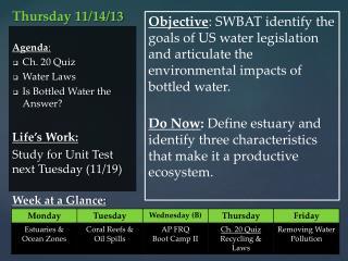 Thursday 11/14/13